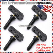 For Gm Tpms 13586335 Tire Pressure Sensor For Chevy Gmc Buick Set Of 4 315mhz