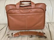 Hartmann Reserve Belting Leather Expandable Briefcase New Without Tags