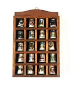 20 Vintage Porcelain Sewing Decorative Thimbles Display Geographic Collection