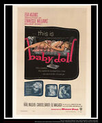 Baby Doll 27x40 Fold Us One Sheet Vintage Movie Poster Original 1956