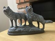 Wolf Fox Coyote Statuevintage Art Realistic Animal Wolves Family Figurines