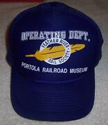 Operating Dept. Feather River Rail Society Portola Railroad Museum Hat Train
