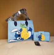 Loungefly Disney Lilo And Stitch Chenille Stitch Handbag And Wallet Set Of 2 New