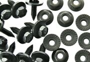 Body Bolts And Flange Nuts- M6-1.0 X 20mm Long- 10mm Hex- 40 Pcs 20ea- Ld125f