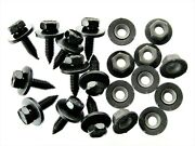 Body Bolts And Barbed Nuts- M6-1.0 X 20mm Long- 10mm Hex- 20 Pcs 10ea- Ld124