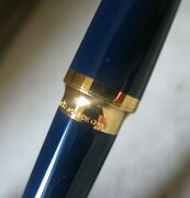 Gorgeous Scarce S.t. Dupont Montparnasse Dark Blue Chinese Lacquer Foutain Pen