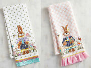 Pier 1 Imports Mr. And Mrs. Bunny Rabbit Easter Tea Towels - Set Of 2 Sold Out