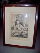 William H. Boucher 1842-1906 W. Dendy Sadler Matriarch At Dining Table Etching