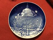 Bing And Grondahl Christmas Eve At Capitol 1990 Christmas In America Plate