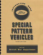 Canadian Ford Special Pattern Trucks Manual Instruction Book Wwii Reprnt