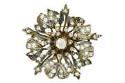 Antique 2.00ct Old Cut Diamond Pendant Brooch Pin In 14k Yellow Gold And Silver