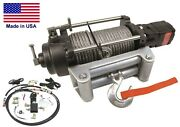 Hydraulic Winch For Chevy 1972 To 1987- 12000 Lbs Cap - Waterproof - Reversible