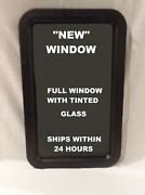 Black Rv Trailer Camper Motorhome Entry Entrance Door Window With Tinted Glass