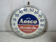 Vintage Ansco All Weather Film Outdoor Advertising Thermometer
