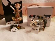 Cow Parade-disco Cow And Dancing Diva Niband039s- Retired