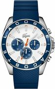 Lacoste Menand039s Blue Silicone Strap Watch Men Gift Ideas Perfect Watches New
