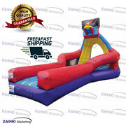 26x10ft Commercial Inflatable Slam Jam Basketball Hoop Game With Air Blower