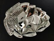 Godinger Silver Plate Pine Cone Footed Candy/nut Dish Serving Bowl 8-3/4 X 7