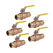 Midline Valve Double-o-ring Press Ball Valve, Press Connection Brass Pack Of 5