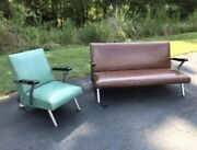 1950's Mid Century Modern Mcm Chair Sofa Couch Royal Metal Manufacturing Company