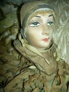 Fabulous And Rare French Carnival Labeled Paris Baton Boudoir Doll Accessory