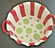 Merry Christmas Colorful And Festive Serving/ Oven Safe Bowl