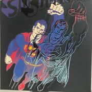 Andy Warhol -andldquosupermanandrdquo-diamond Dust-from Myths Suite-1981 -silkscreen Proof