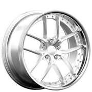 4 20 Staggered Xix Wheels X61 Silver Machined With Ss Lip Rims B4