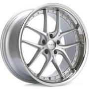 4 20 Staggered Xix Wheels X61 Silver Machined With Ss Lip Rims B30