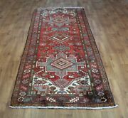 Old Wool Hand Made Oriental Floral Runner Area Rug Carpet 325 X 115 Cm
