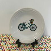 Fiestaware Turquoise Spring Vintage Bicycle Lunch Plate Fiesta 9 In Luncheon