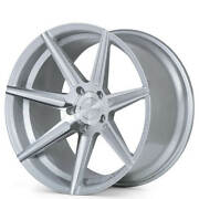 4 20 Staggered Ferrada Wheels F8-fr7 Machined Silver Fit Ford Mustang B1