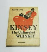 Rare Kinsey Bourbon Whiskey Matchbook Paper Notepad Advertising Giveaway