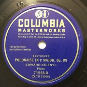 Edward Kilenyi – 78 Rpm Columbia 71968-d Polonaise In C Op. 89 Beethoven
