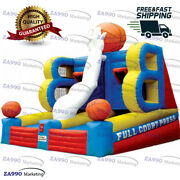 16x13ft Inflatable Basketball Hoop Carnival Sport Game Play With Air Blower