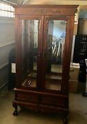 1800 French Provincial Mirrored Hutch