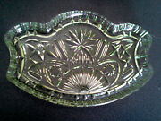Vintage Art Deco Green Depression Dressing Table Glass Tray