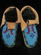 Blackfoot Beaded Hide Soft-soled Moccasins