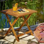 Wooden Square Garden Table Coffee Side Balcony Patio Folding End Low Snack Table