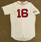 Andrew Benintendi Mlb Holo Game Used Jersey Rookie 2017 Alds Home Boston Red Sox
