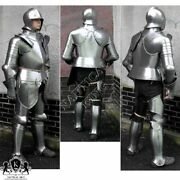 Full Body Armour Antique Medieval Knight Suit Of Gothic Stand Stand Steel Antiqu