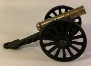 Civil War Miniature Military Cannon Made Of Cast Iron And Brass 5andrdquo Long Vintage