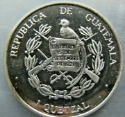 Guatemala Bruce X1.1 Unofficial 1 Quetzal 1995 Struck In Silver 150 Issued