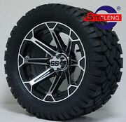 Golf Cart 12 And039fangand039 Wheels/rims And 20 Stinger All Terrain Tires Dot Rated
