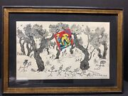 Vtg Joan Miro - The Party - Original Color Lithograph 1956 Framed Free Shipping