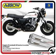 Arrow Pair Exhausts Pro-racing Stainless Steel Approved Honda Cb1100ex 2014/2016