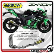 Arrow Full Exhaust Competition Titanium Collect. Steel Kawasaki Zx10r 2016/