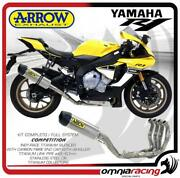 Arrow Full Exhaust Competition Titanium And Steel Collectors Yamaha R1/r1m 2015/