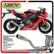 Arrow Full Exhaust Competition Titanium Silencer And For Honda Cbr1000rr 17/