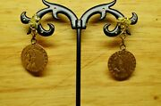 1908 And 1915 Indian Head 2.50 Gold Coins Turned Into Earrings W/ Nugget Posts